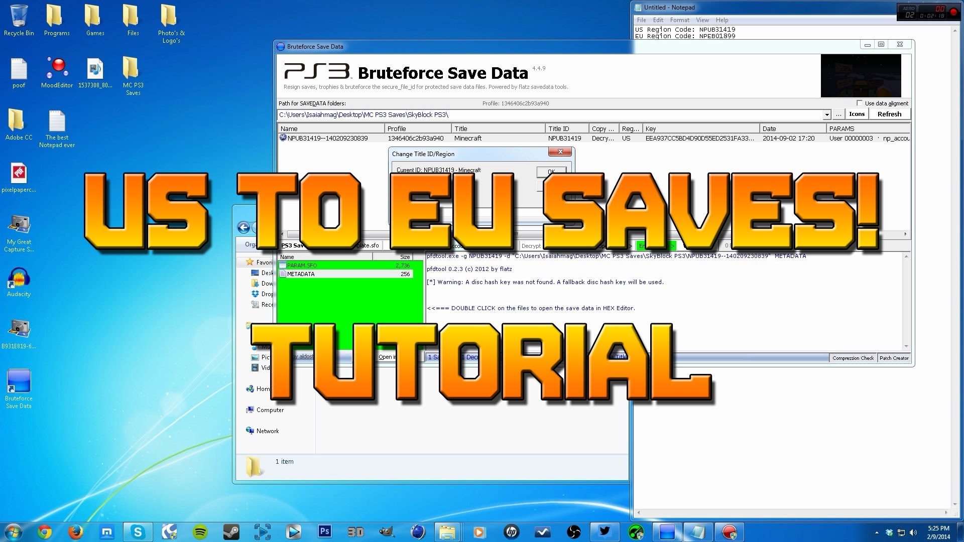How to Convert Minecraft PS3 Game Saves EU to US and US to EU