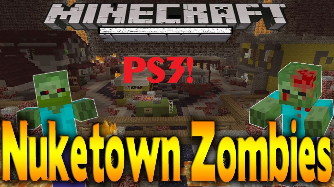 Minecraft PS3 PS4 Black Ops 2 Zombie Mini Game