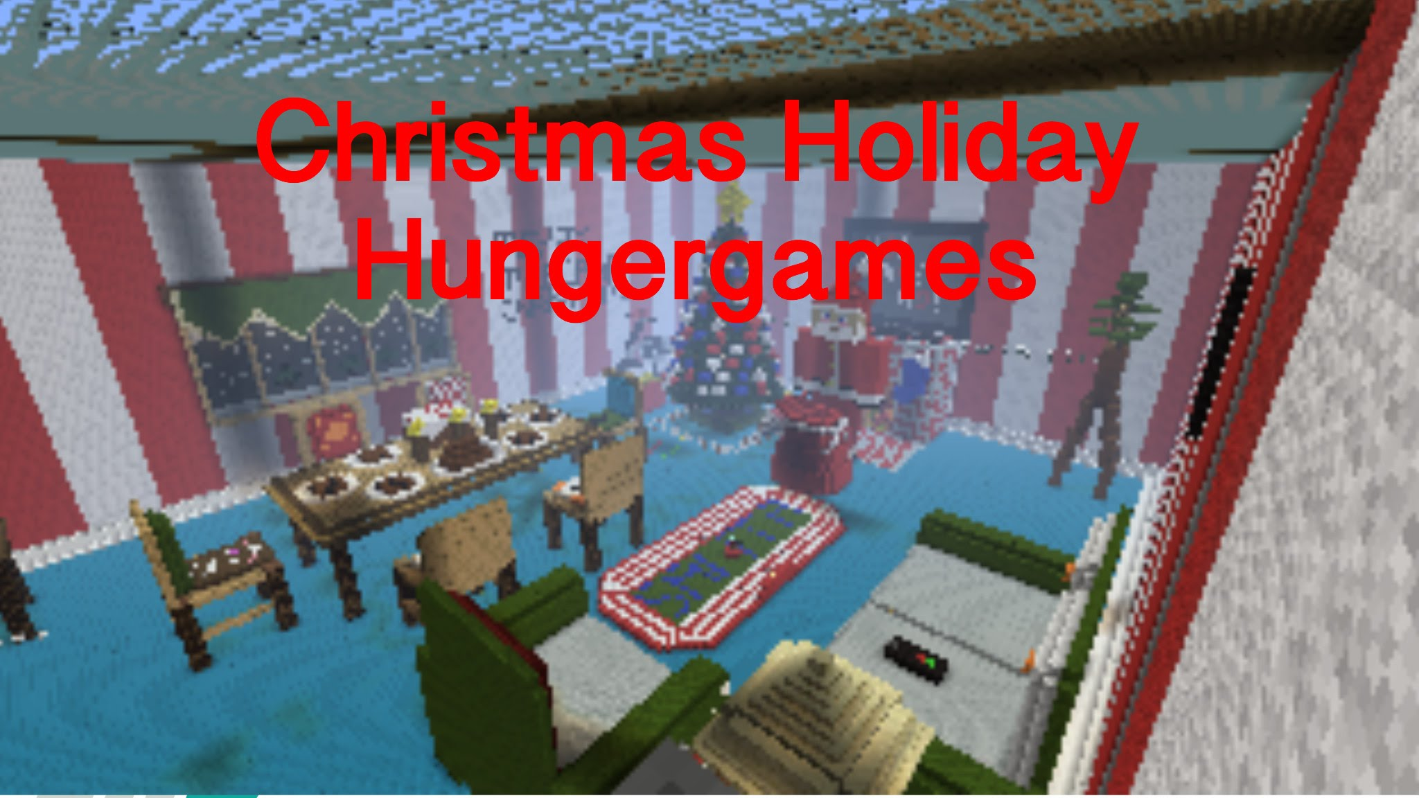 Minecraft PS3 PS4 Christmas Living Room Hunger Games