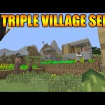 Minecraft PS3 PS4 TU25 Seed: Triple Village & Extreme Hills Biome