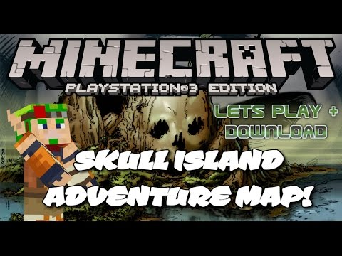 Minecraft PS3 Adventure Map Skull Island