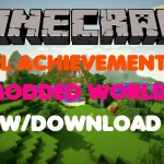 Minecraft PS3/PS4 All Achievements Modded World W/Download