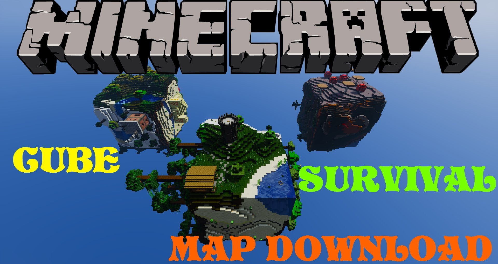Minecraft PS3/PS4 Cube World Modded Survival Map W/Download