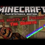 Minecraft PS3 Five Nights At Freddies FNAF Horror Map