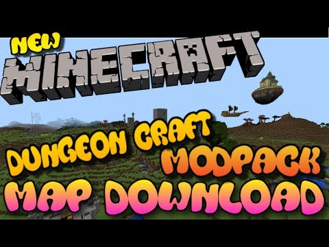 Minecraft PS3/PS4 Dungeon Craft 2 ModPack Map Download